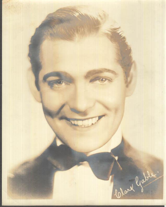 Image for Movie star Clark Gable photo facsimile autograph ca 1930s pre-mustache