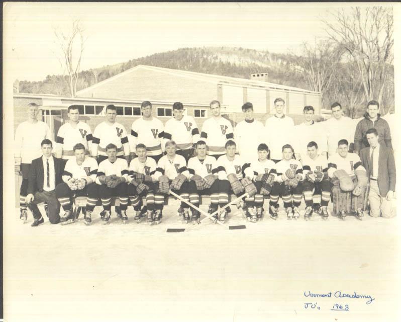 Image for Vermont Academy Junior Varsity JV Ice Hockey Team photo 1963