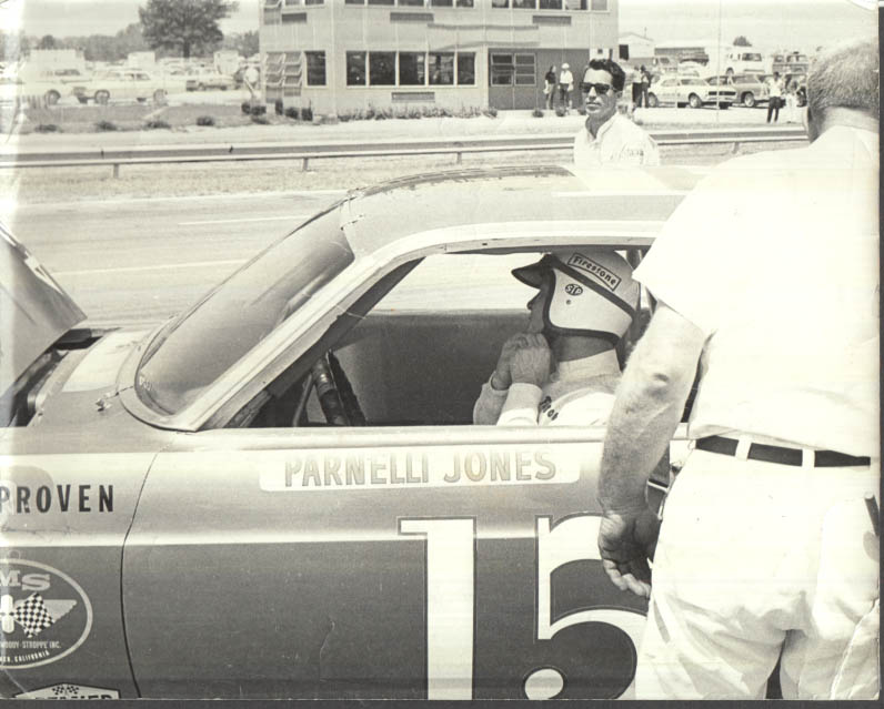 Image for USAC driver Parnelli Jones in #15 1967 Fairlane in pits photo