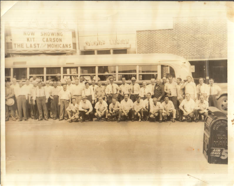 Image for Bus full of men with beers Park Theatre Globe Lunch photo 1947