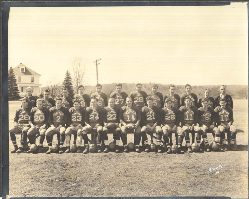 Image for Canton High School Football Team 1940 photo by Brown