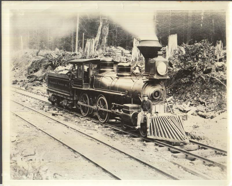 Image for Canadian Pacific Railway Baldwin 4-4-0 locomotive under steam photo ca 1910