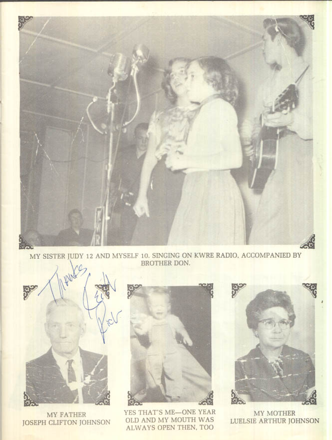 Image for SIGNED Country Singer Helen Cornelius concert souvenir program ca 1970s