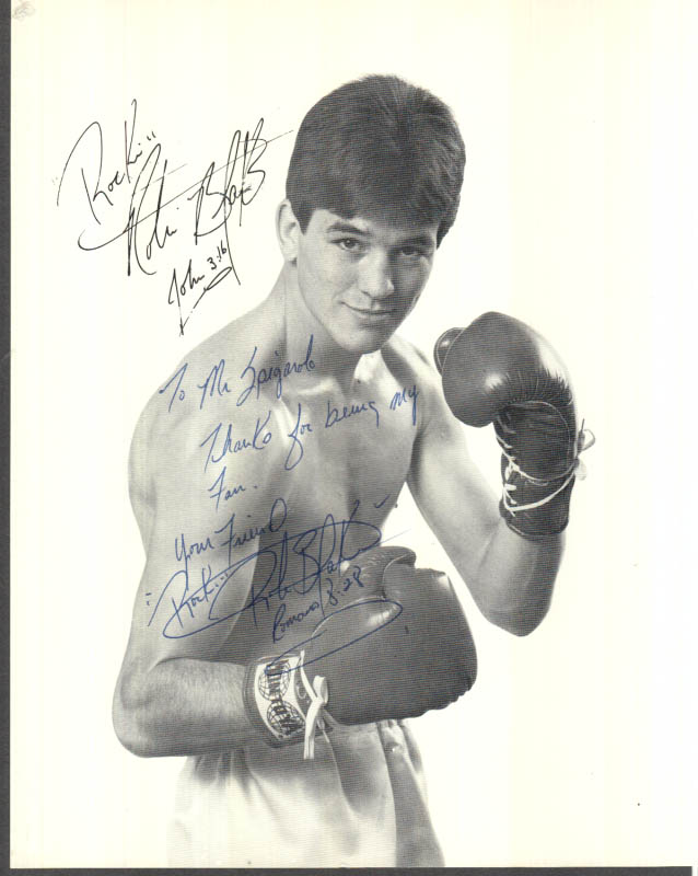 Image for Lightweight boxer Rockin' Robin Blake SIGNED picture 1980s