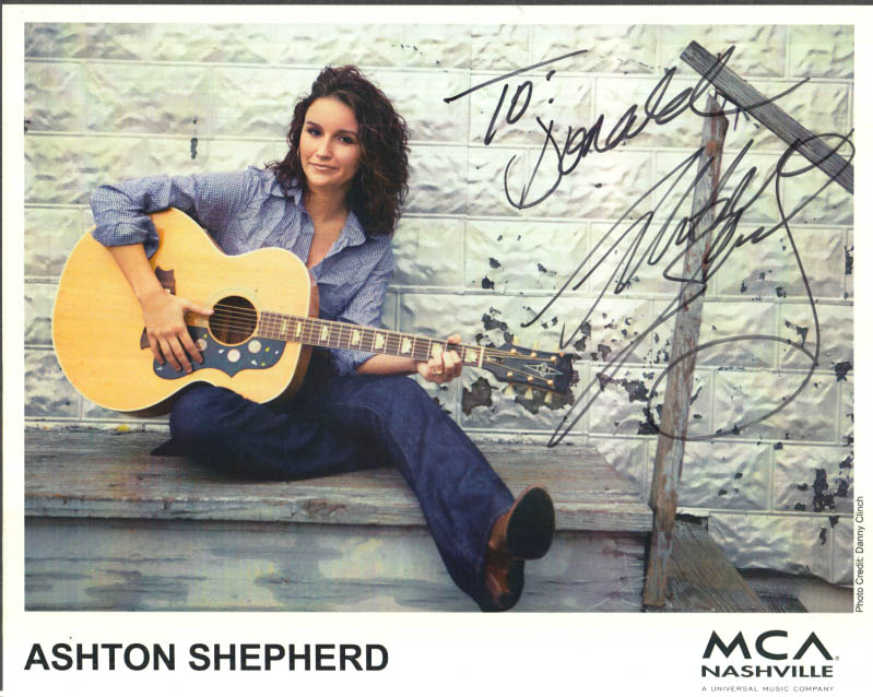 Image for Country signer Aston Shepherd SIGNED color print MCA Nashville