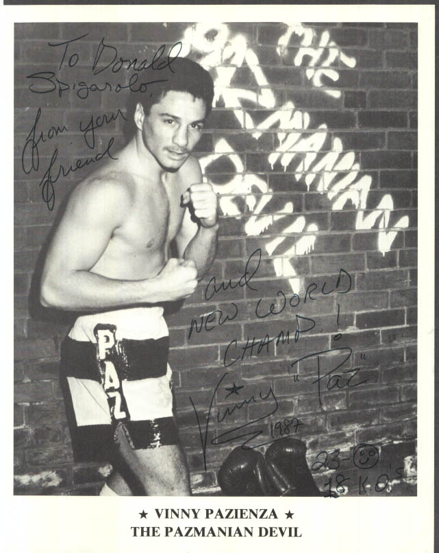 Image for SIGNED print: Middleweight Champ Vinny Paz Pazienza The Panmanian Devil