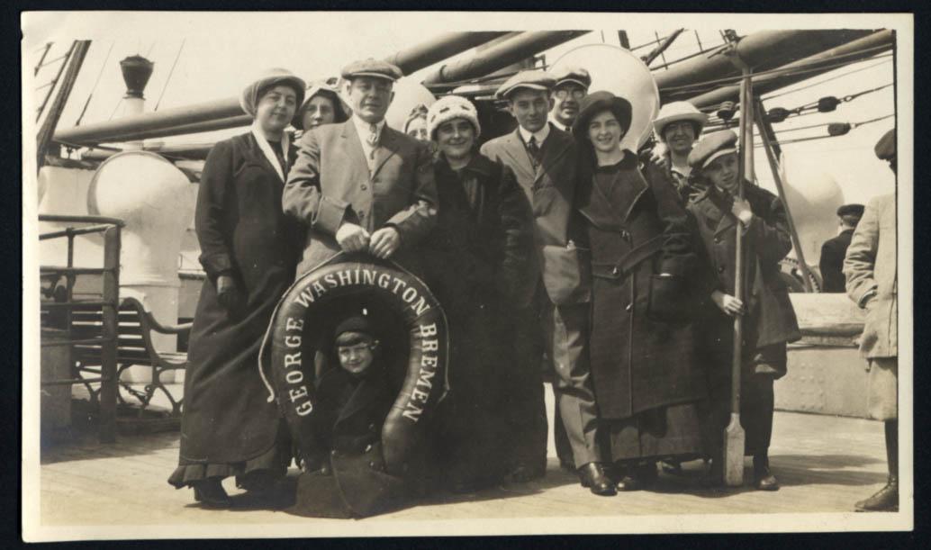 Image for Norddeutscher Lloyd Bremen S S George Washington 10 passengers photo 1914