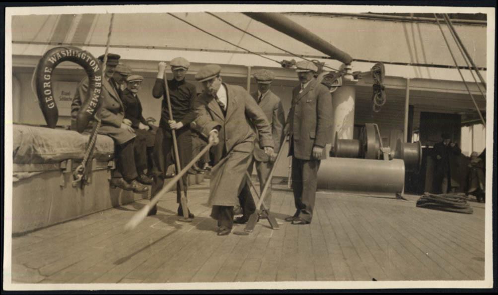 Image for Norddeutscher Lloyd Bremen S S George Washington shuffleboard photo #3 1914