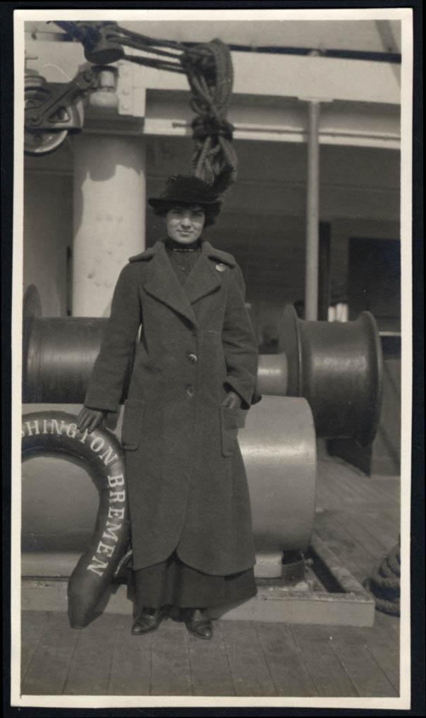 Image for Norddeutscher Lloyd Bremen S S George Washington Miss Marie Caux photo 1914