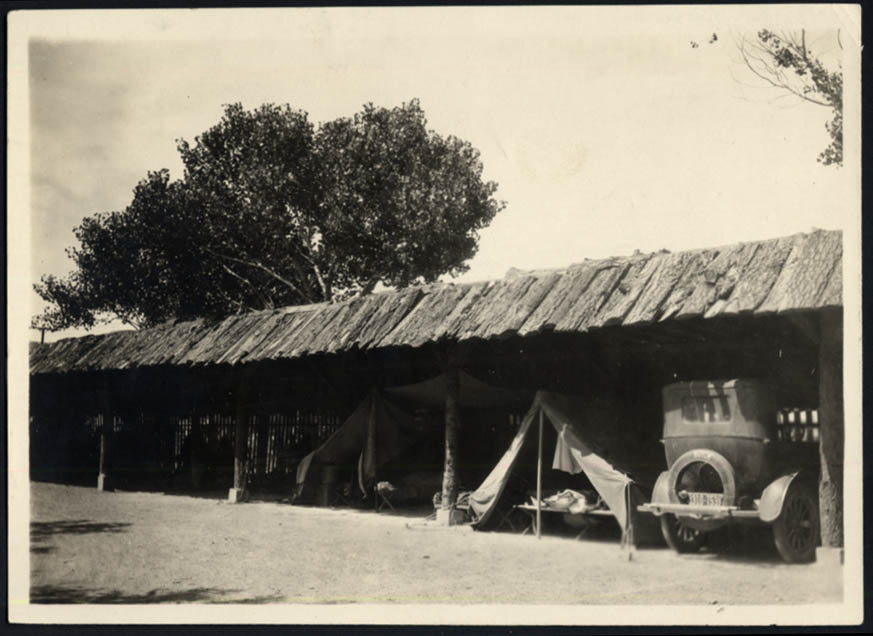 Image for Shed for Tourists in tents Camp Grande El Paso Gateway Club TX photo ca 1923