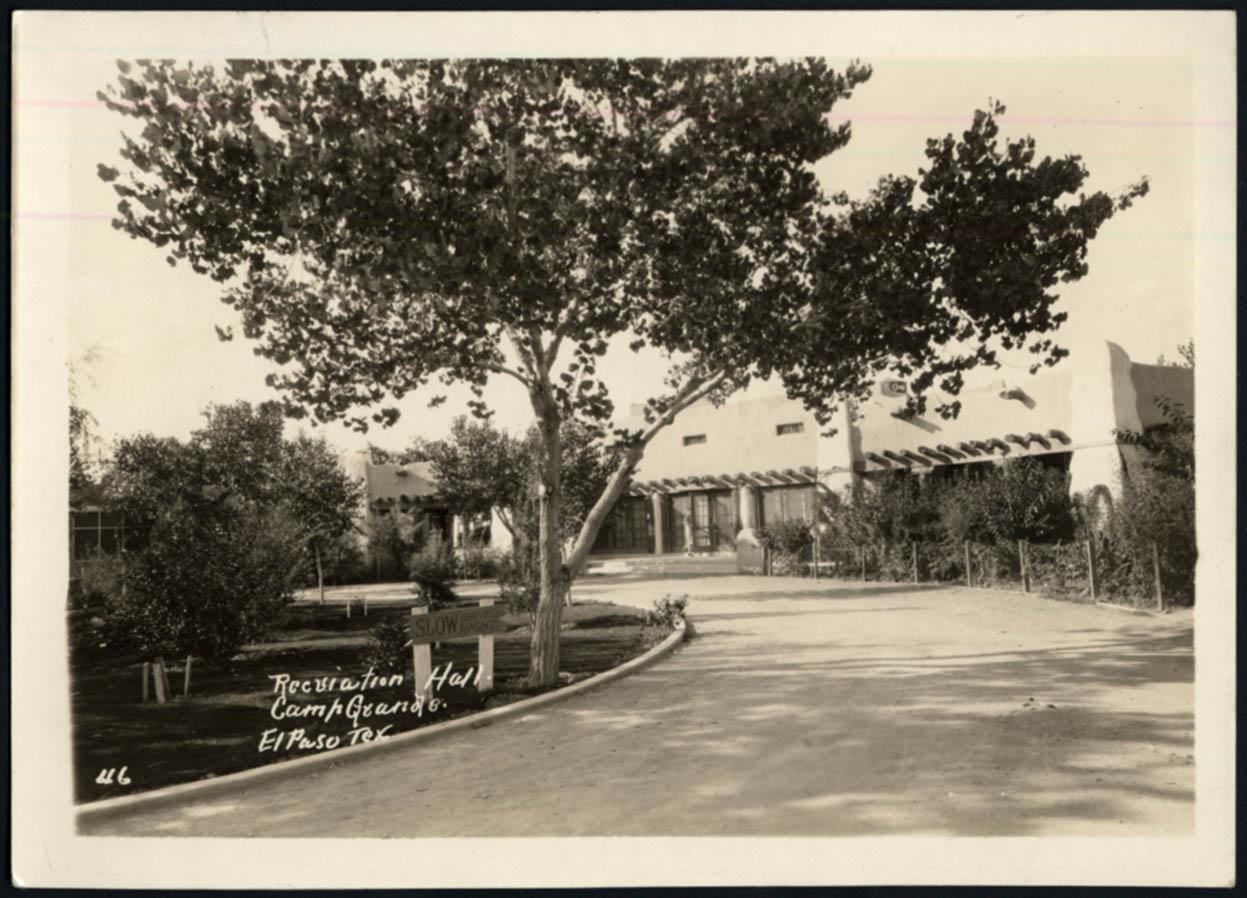 Image for Recreation Hall Camp Grande El Paso Gateway Club TX photo ca 1923