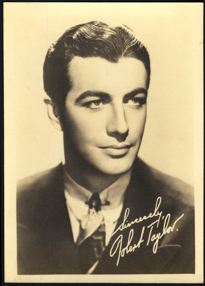 Image for Movie actor Robert Taylor photo 1940s facsimile autograph