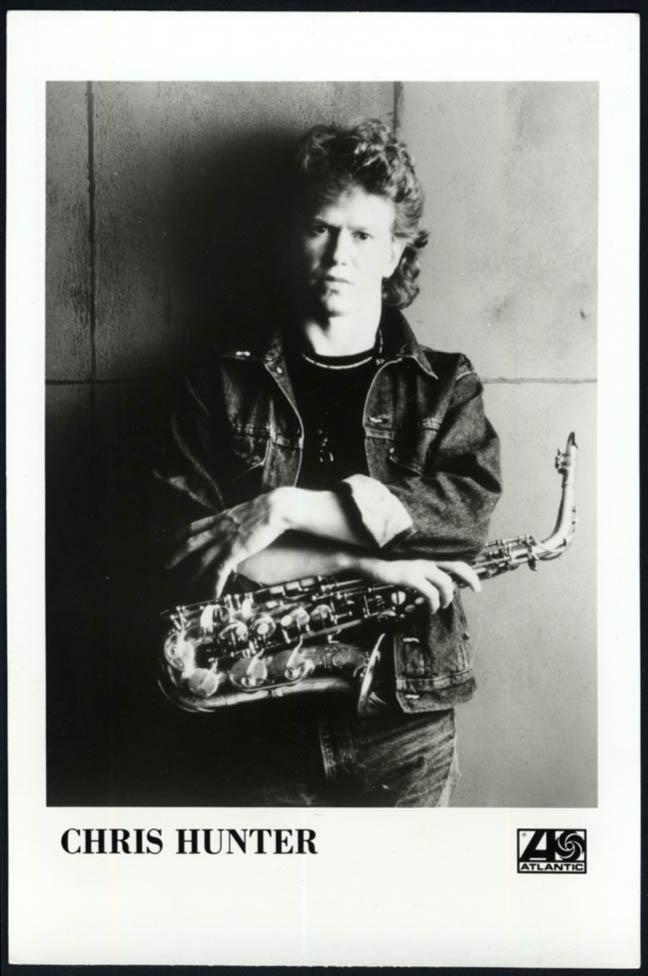 Image for Jazz saxophonist Chris Hunter Atlantic Records promo photo 1980s