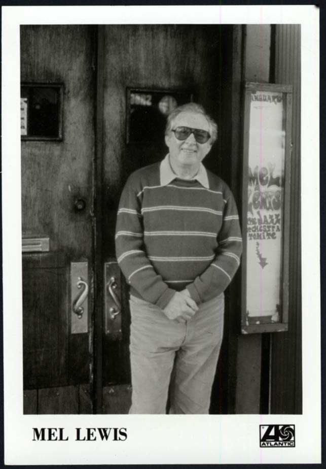 Image for Jazz drummer Mel Lewis at the Vanguard - Atlantic Records promo photo 1980s
