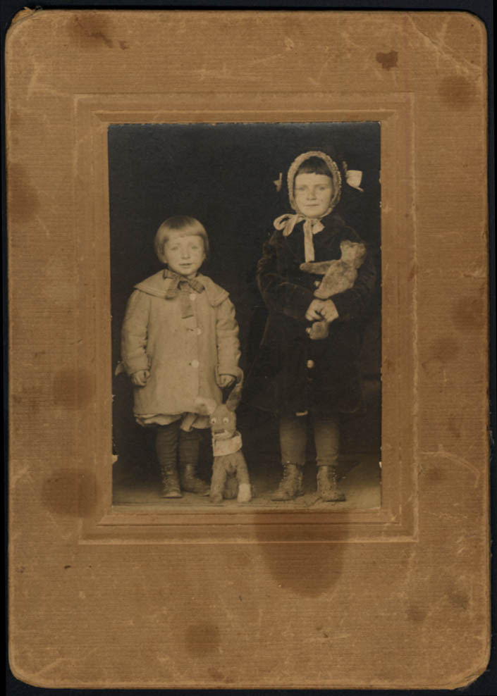 Image for Children Paul & Helen Hughes with stuffed animals photo ca 1910