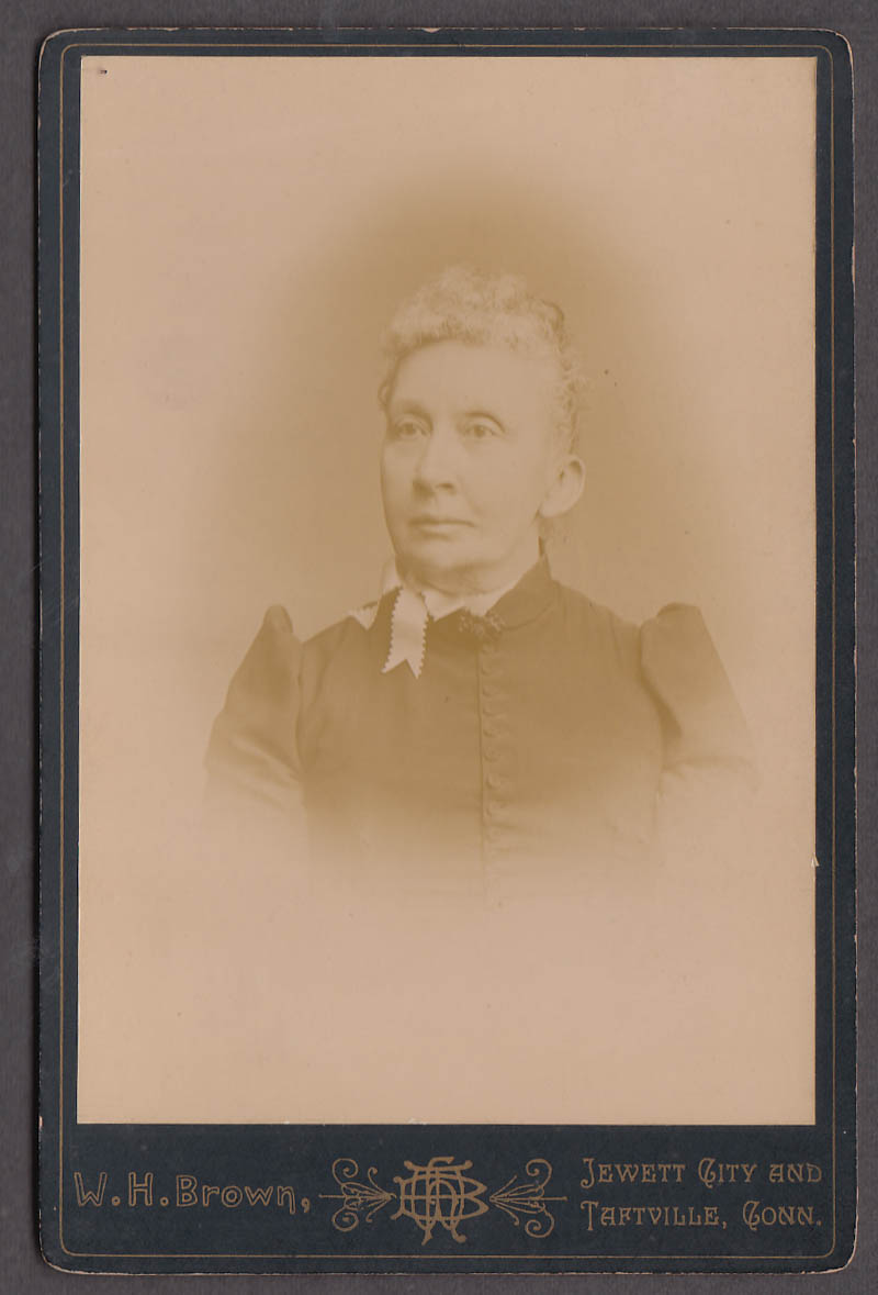 Mrs Benjamin Jewett City CT cabinet photo by W H Brown Taftville