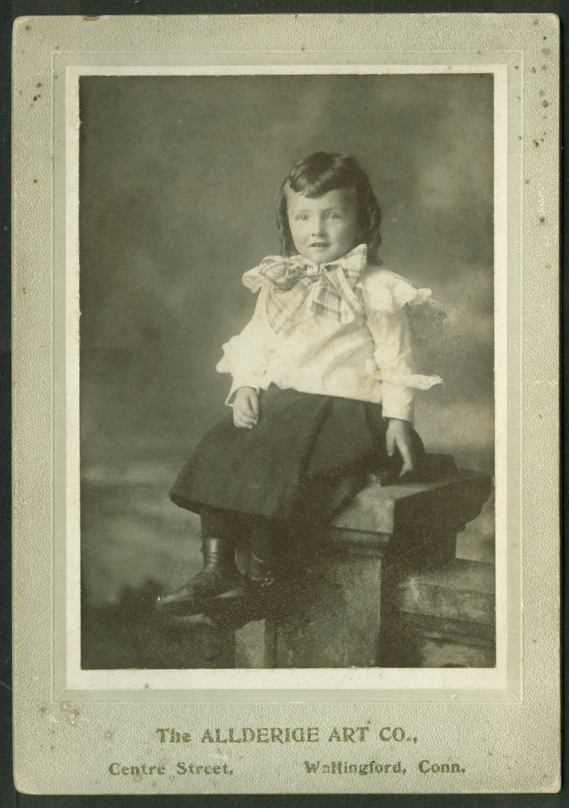 Boy Raymond Dooley photo Allderidge Art Co Wallingford CT ca 1910