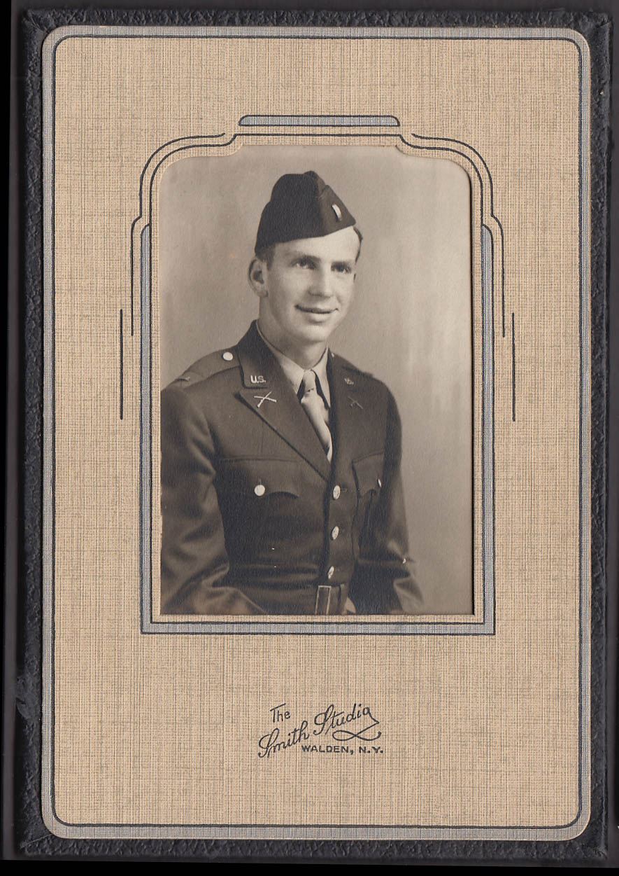Unidentified US Army Lieutenant photo by Smith Studio Walden NY 1940s