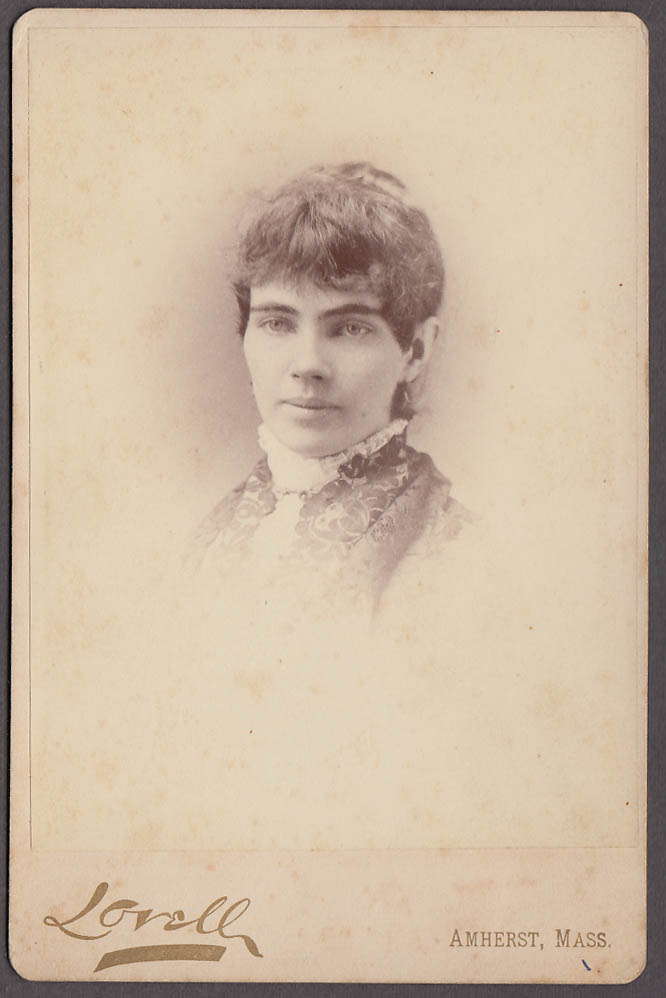 Image for Ella Cunningham young woman cabinet by Lovell Amherst MA 1880s