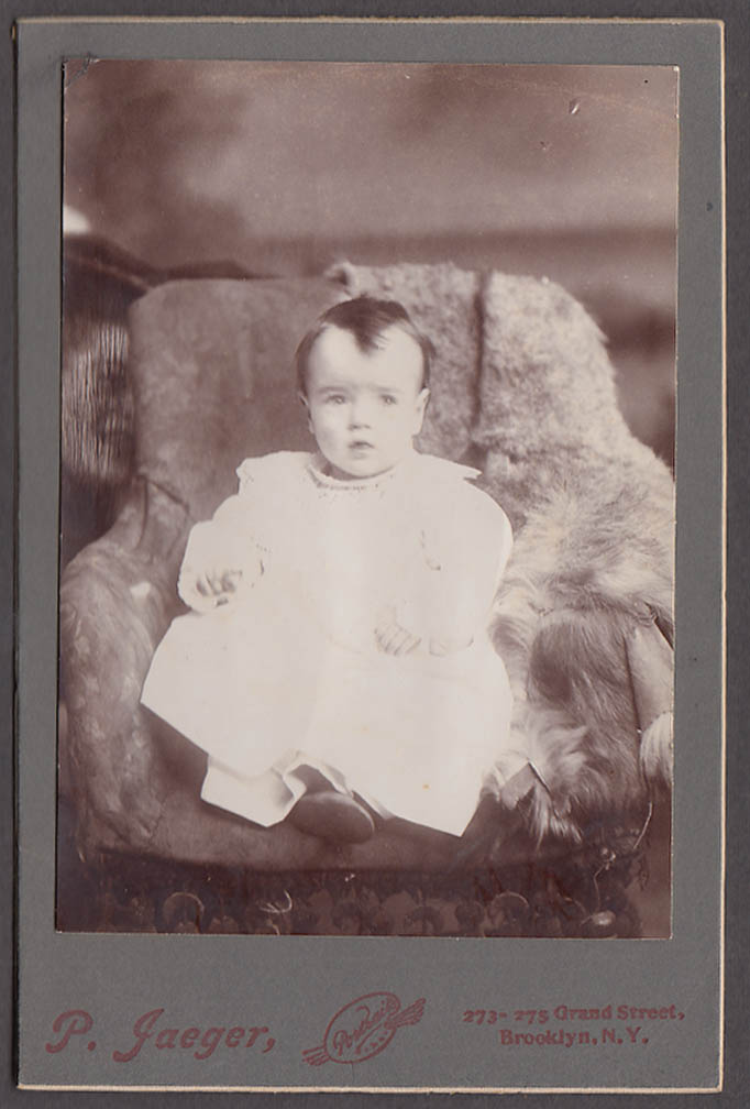 Image for Mary J Sullivan at 14 months cabinet by P Jaeger Brooklyn NY 1880s