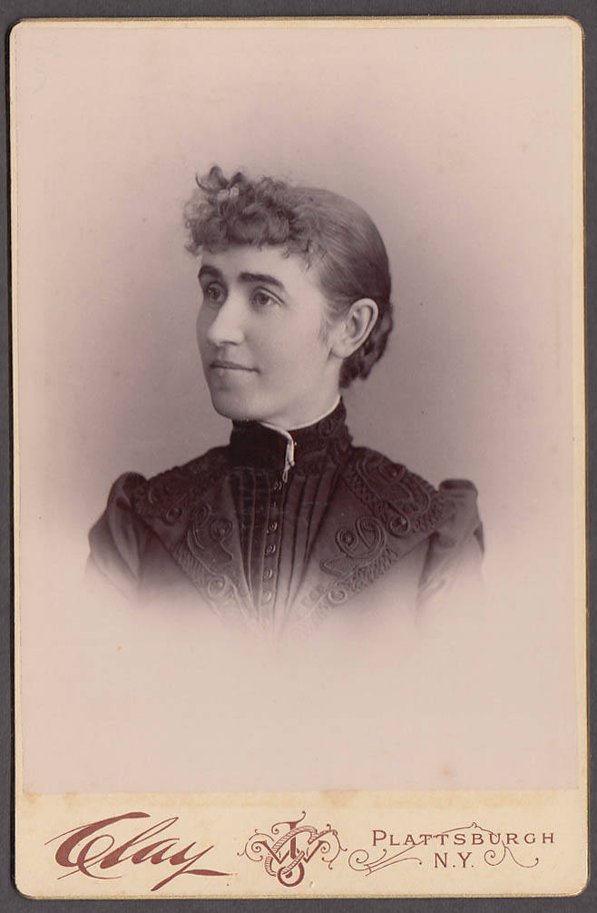 Image for Margaret Cunningham cabinet byJ W Clay Plattsburgh NY 1880s