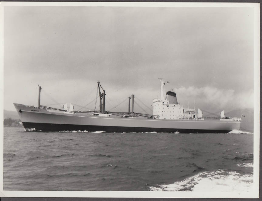 Cargo Freighter Majestic photo 1969 by Ralston Glasgow