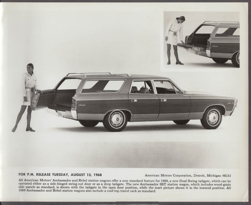 1969 AMC American Motors Ambassador Station Wagon publicity photo