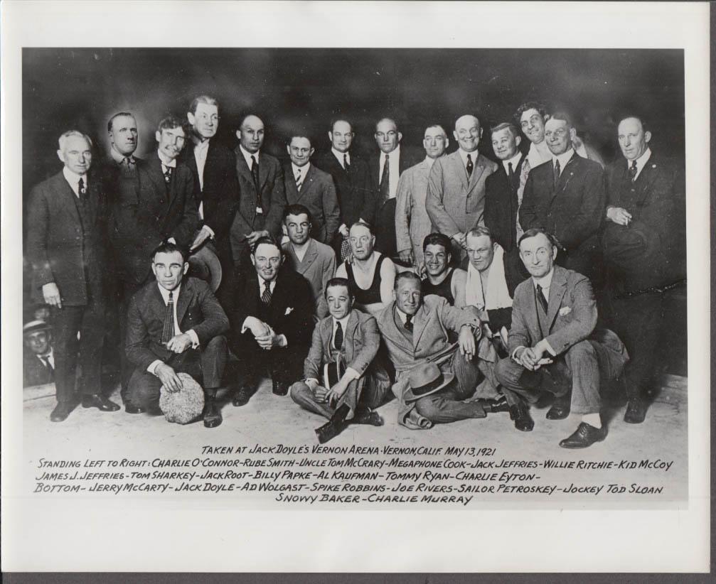 1921 Boxing photo modern print Sharkey Jeffries Kid McCoy 20 more Vernon CA