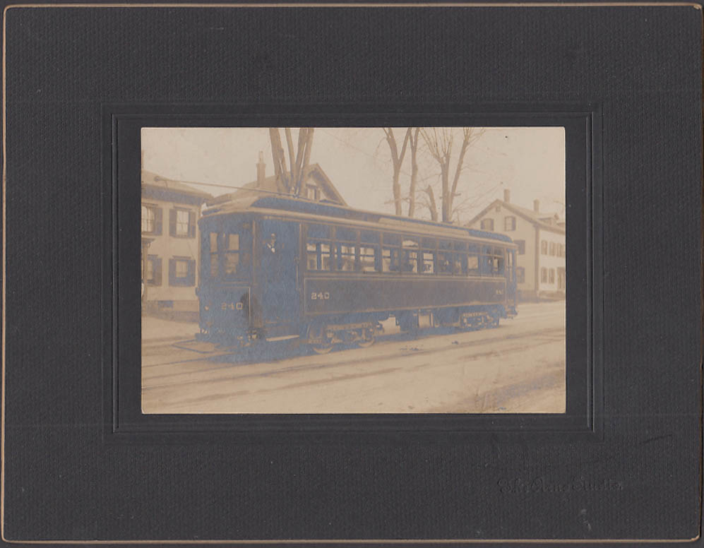 Streetcar #240 photo Connects at Clinton for Worcester Hudson & Fitchburg 1900s