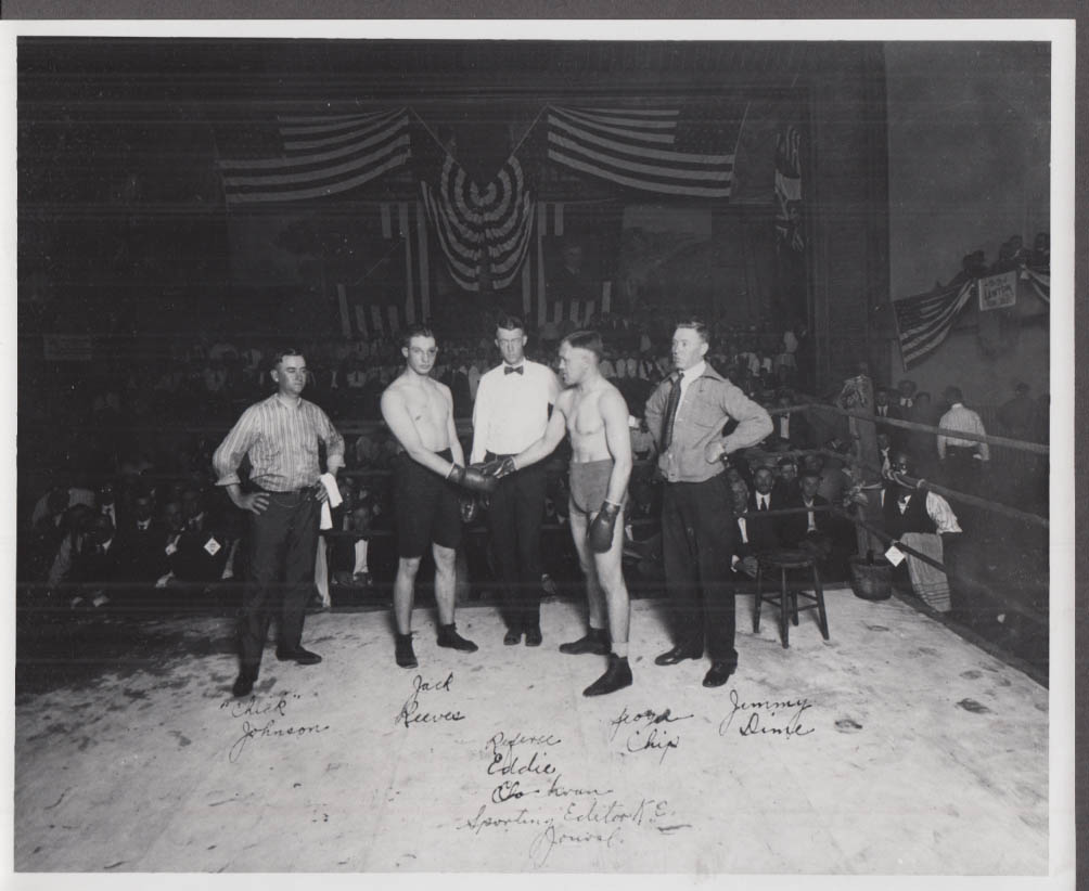 Jack Reeves vs George Chip pre-fight handshake photo 1920