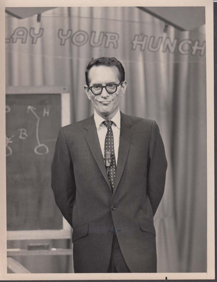 Play Your Hunch TV Game Show Host Robert Q Lewis photo 1960s