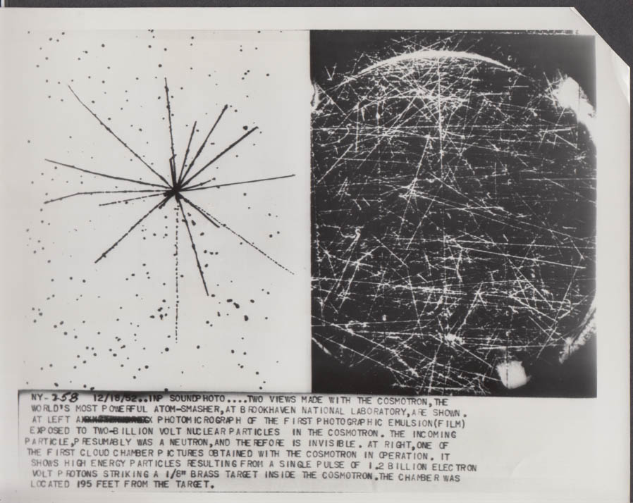 2 views made by Brookhaven National Lab Cosmotron Upton NY photo 1952