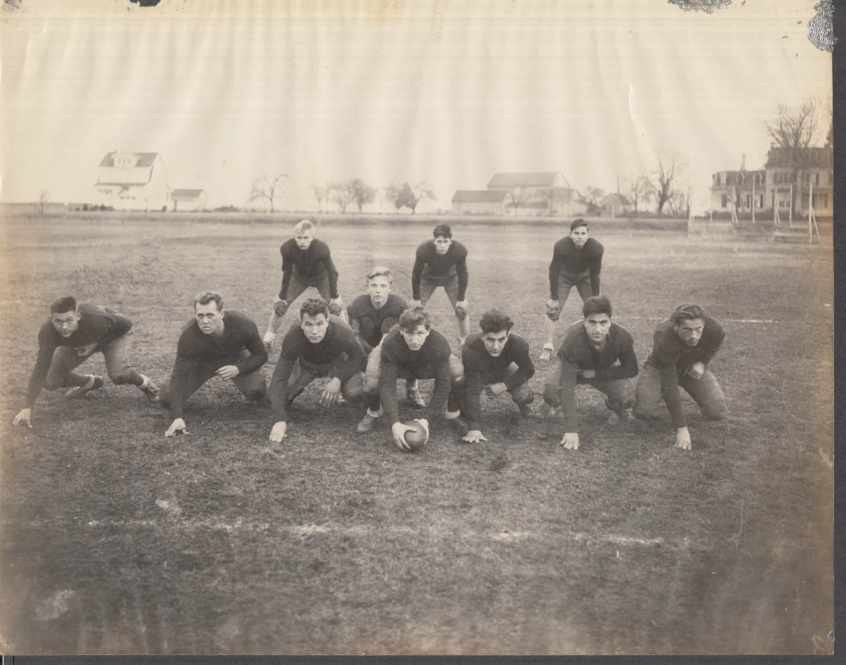 Unidentified football eleven team ready to play photo ca 1930s