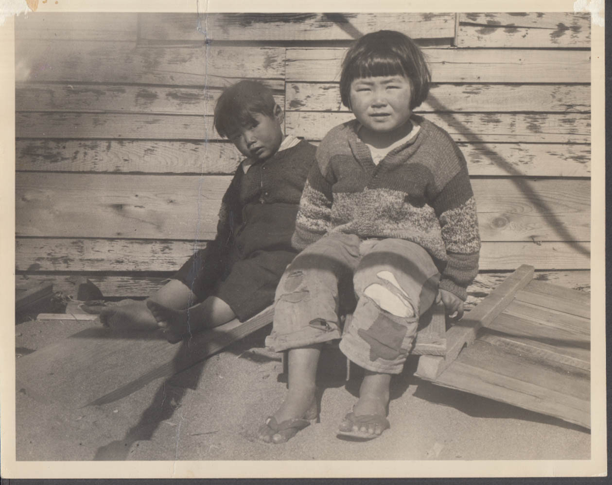 "Korean children at Inchon Korea 2/1951 8x10"" photo"