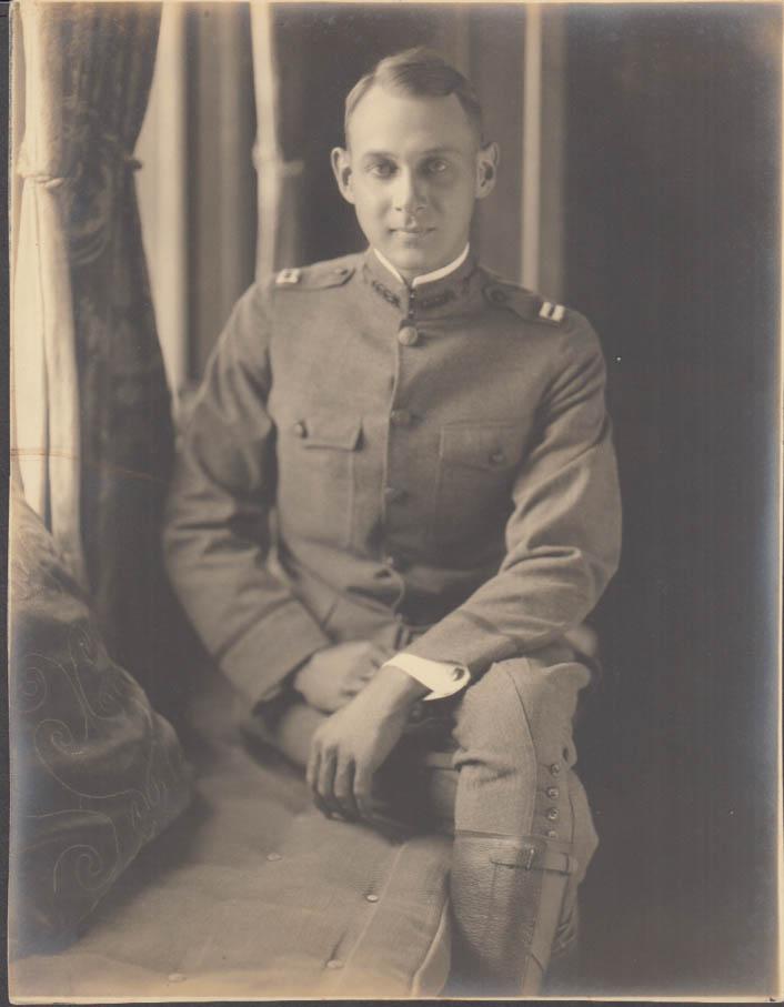 U S Army World War I Captain in uniform studio postrait ca 1918