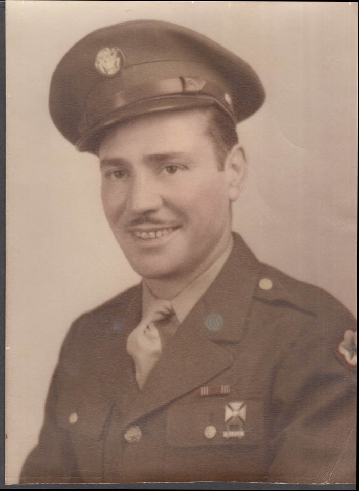"""US Army Services of Supply Enlisted Man with rifle badge photo """"Tommy"""" 1943"""