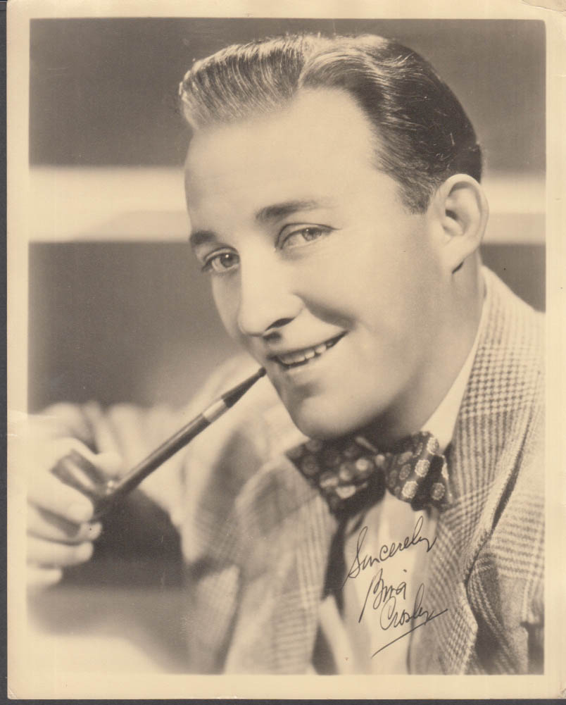 Actress Bing Crosby studio photograph facsimile signature 1940s