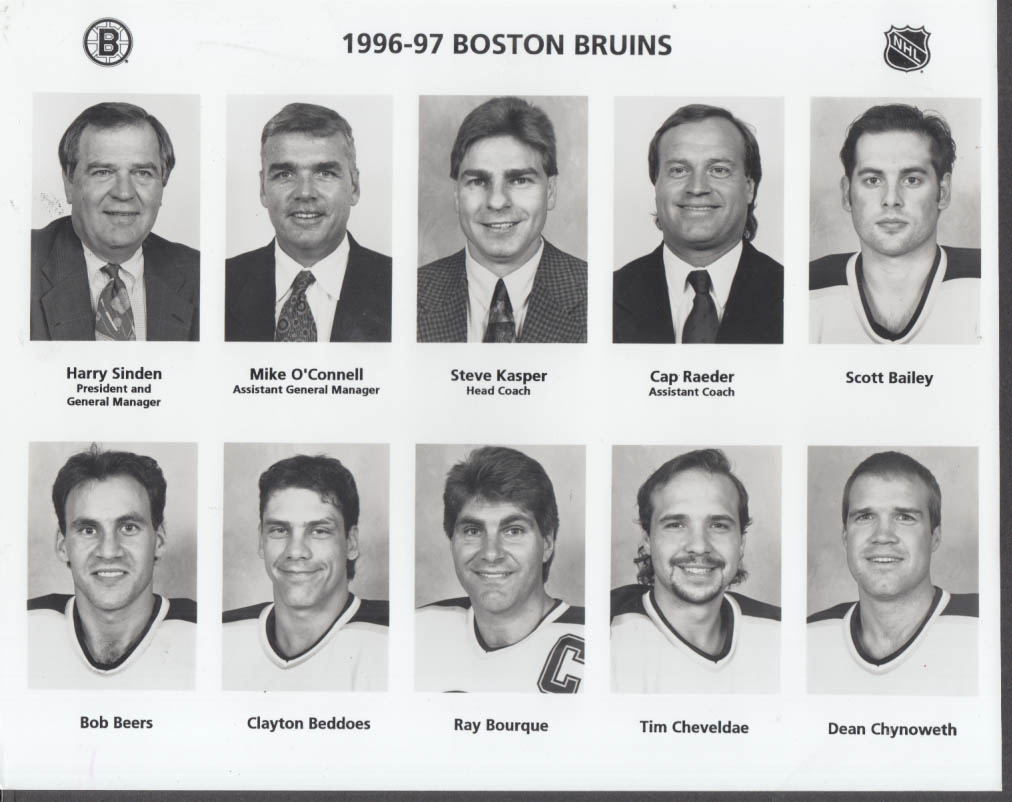1996-1997 Boston Bruins set of four team photos