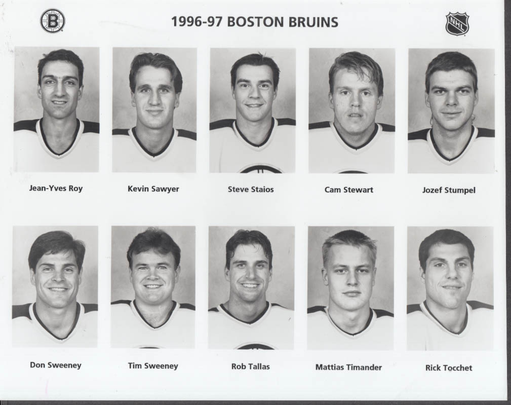 1996-1997 Boston Bruins set of four team photos