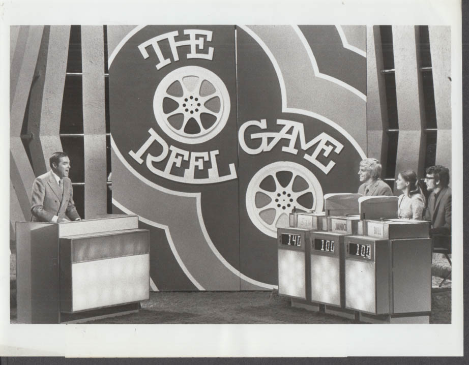 ABC-TV The Reel Game Quiz Show Premiere promotional photo 1970 Jack Barry