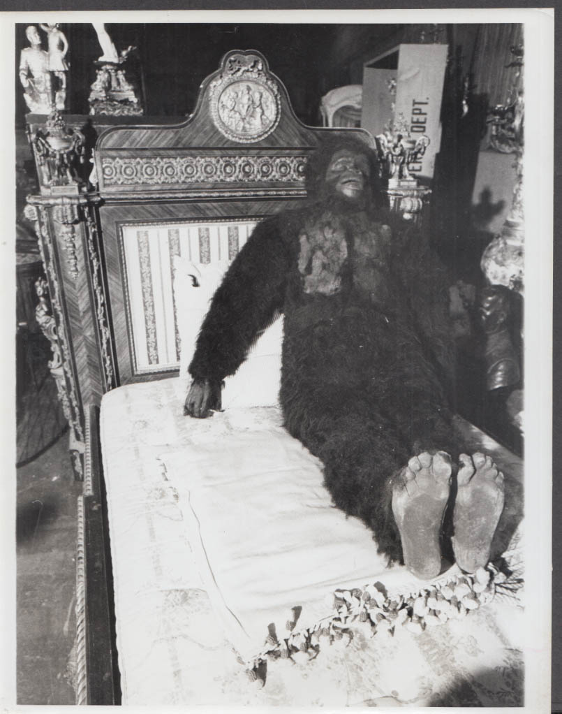 Planet of the Apes gorilla dummy at 20th Century Fox Auction photo 1971