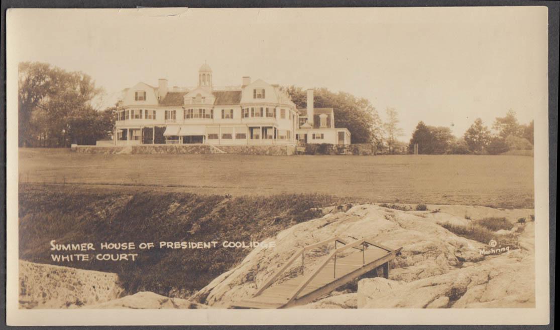 Calvin Coolidge Summer House Entrance White Court Swampscott MA photo 1925