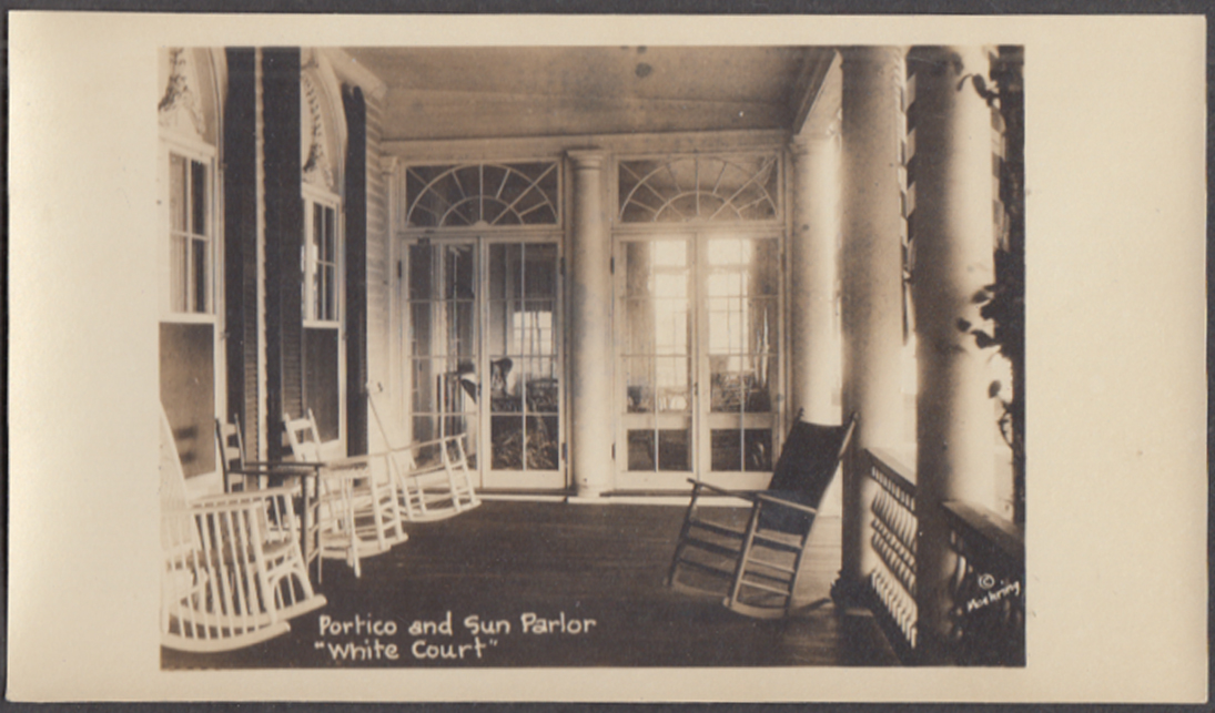 Portico & Sun Parlor Calvin Coolidge White Court Swampscott MA photo 1925