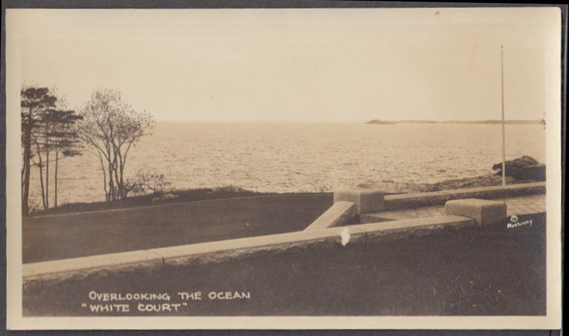 Overlooking the Ocean Calvin Coolidge White Court Swampscott MA photo 1925