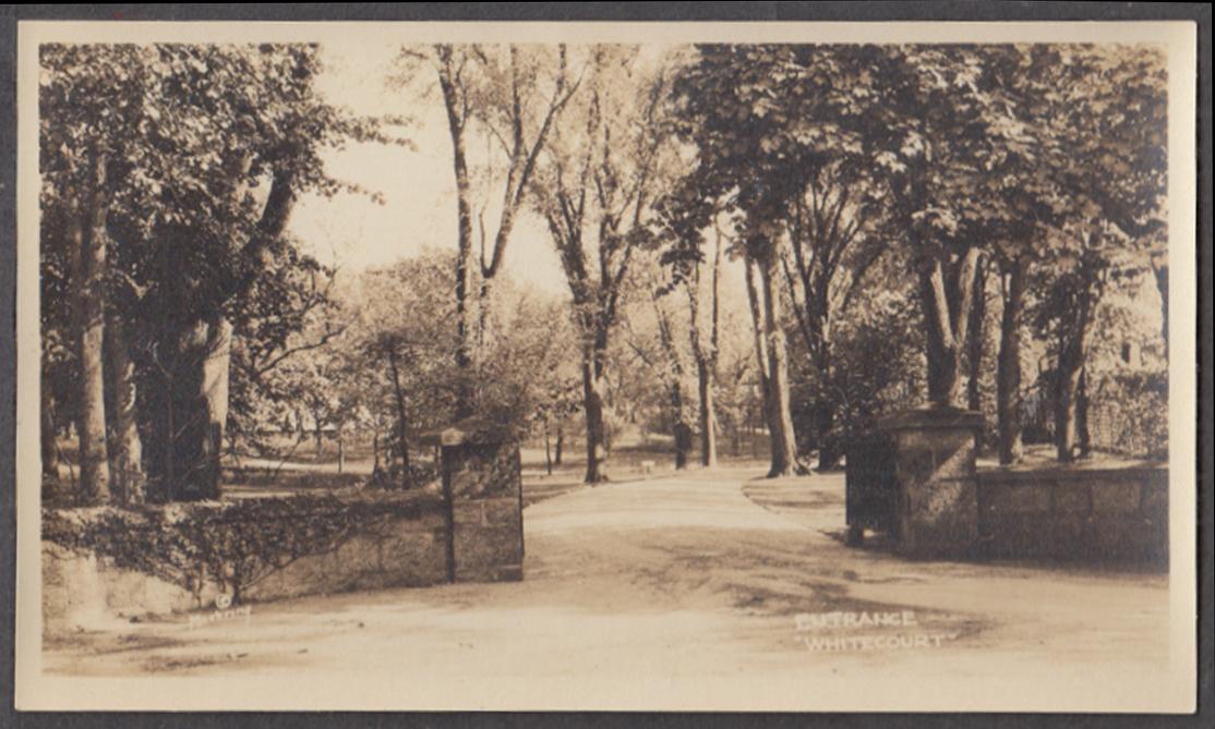 Entrance driveway gate Calvin Coolidge White Court Swampscott MA photo 1926