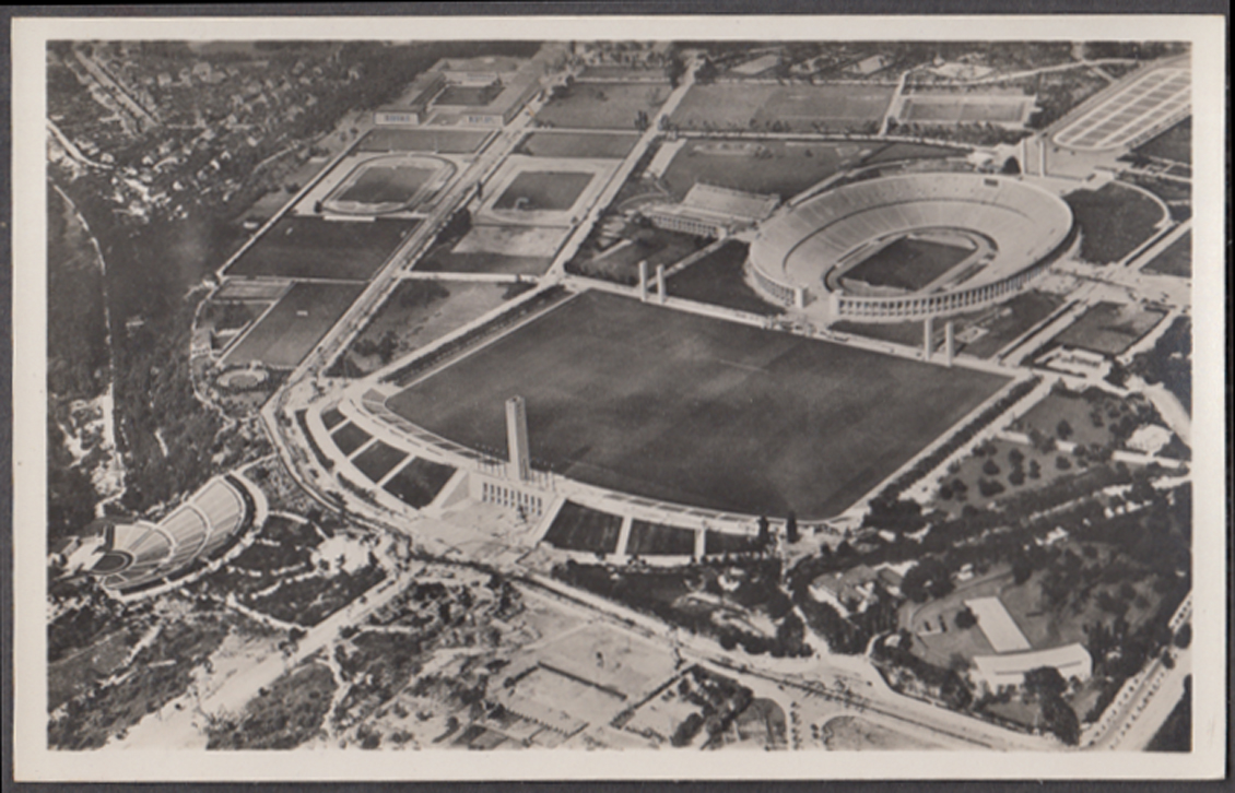Air View Berlin Olympic Stadium 1936 RPPC Das Reichssportfeld