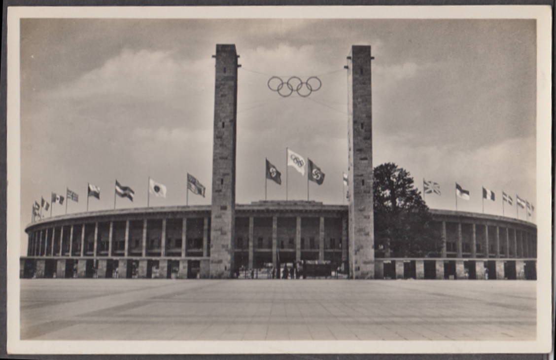 Berlin Olympic Stadium 1936 RPPC Das Reichssportfeld Haupteingangster