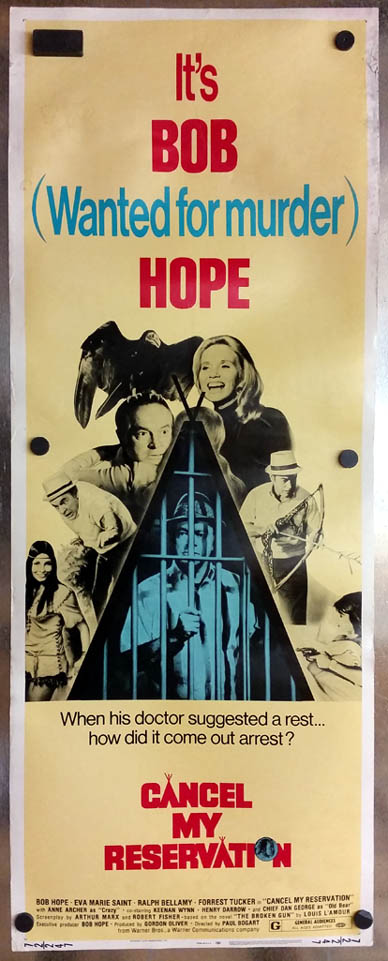 Cancel My Reservation movie lobby poster 1972 Bob Hope Eva Marie Saint