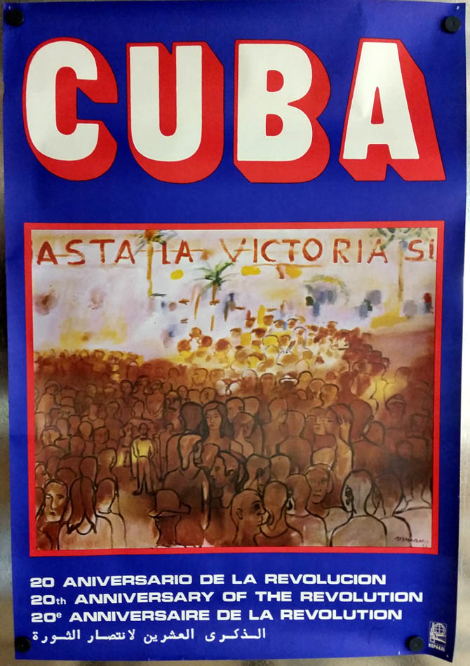 Cuba: 20th Anniversary of the Revolution 1959-1979 poster