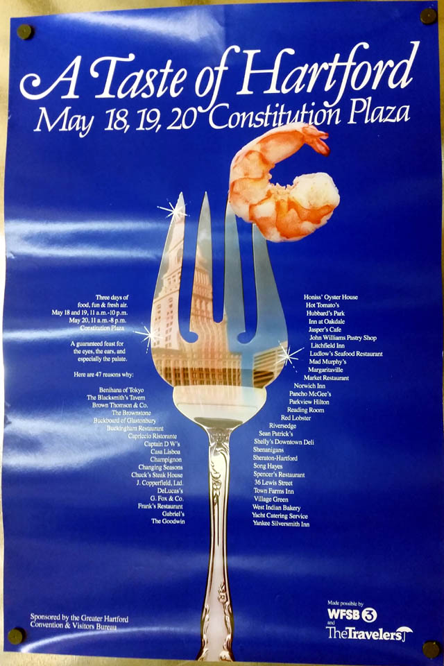 A Taste of Hartford: Constitution Plaza May 18 19 20 poster 1970s CT